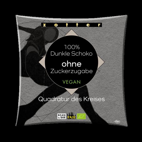 100% Dunkle Schoko ohne Zuckerzugabe