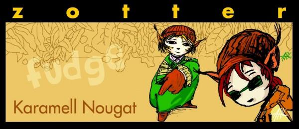 Karamell Nougat fudge