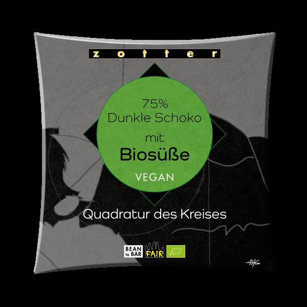 75% Dunkle Schoko mit Biosüße