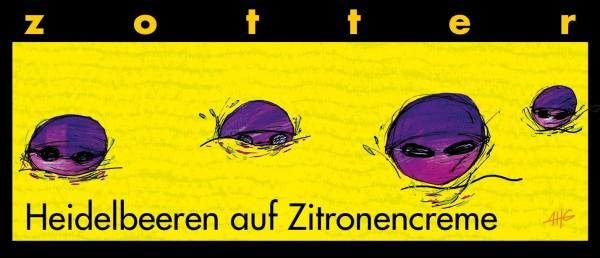 Heidelbeeren auf Zitronencreme