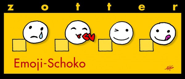 Emoji-Schoko - MandelNougat + DuftTonkas