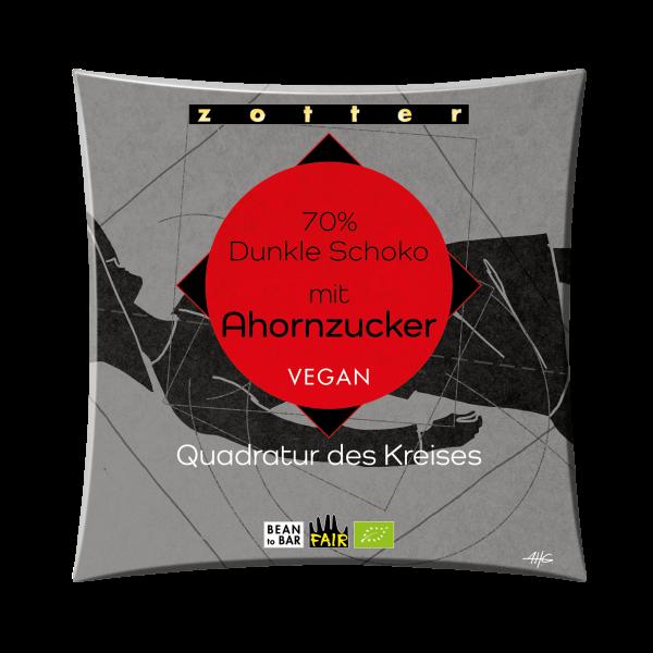 70% Dunkle Schoko mit Ahornzucker