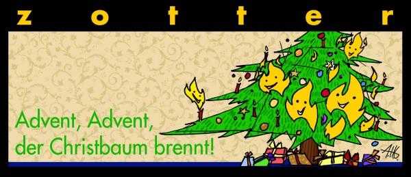 Advent, Advent der Christbaum brennt