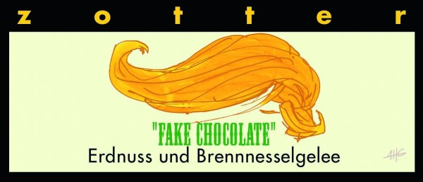 Fake Chocolate – Erdnuss und Brennnesselgelee