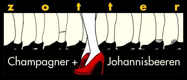 Champagner + Johannisbeeren