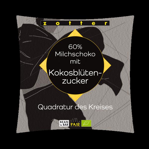 60% Milchschoko mit Kokosblütenzucker