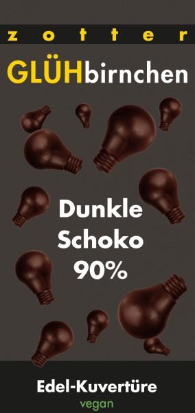Glühbirnchen - Dunkle Schoko 90%