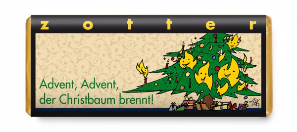 Advent, Advent, der Christbaum brennt